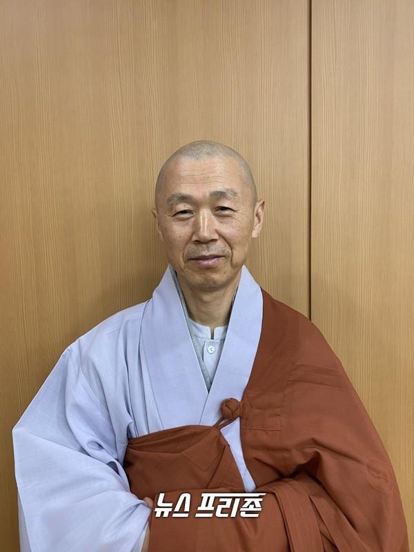 강화군 전등사 주지로 취임한 여암스님 ⓒ김태훈 기자